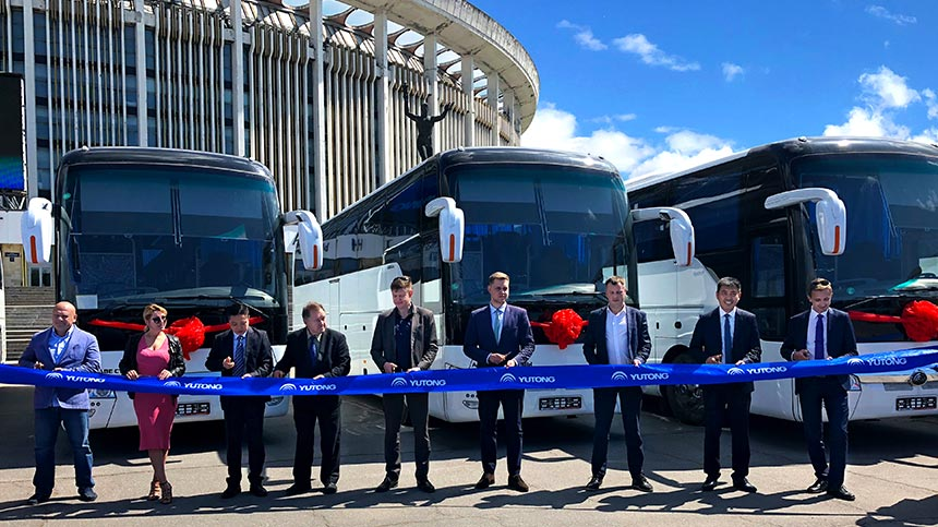 Yutong boosts the world's mobility with Chinese quality amid the 70th anniversary of Sino-Russian diplomatic ties