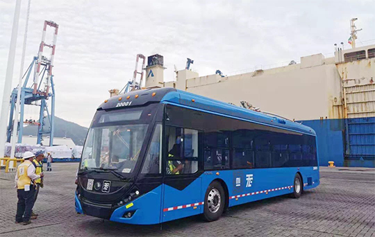 63 Yutong Dual-Source Trolleybuses Enter Mexico across the Ocean!