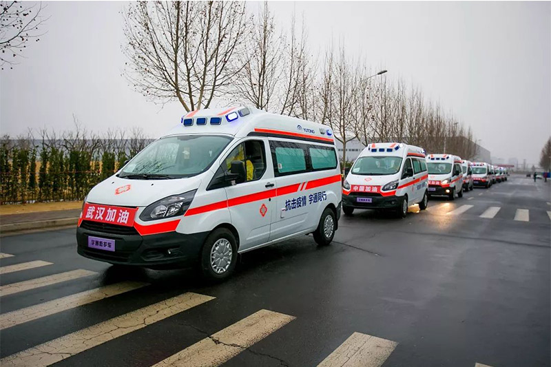 Yutong donates 10 negative pressure ambulances to Wuhan