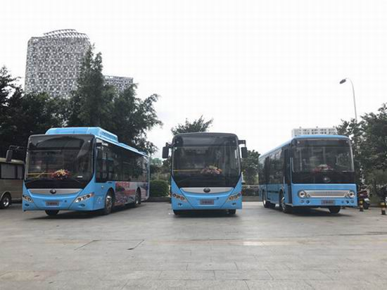 48 Yutong new energy buses serve in Dali city